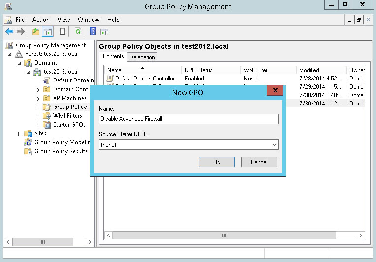 disable firewall windows 7 group policy