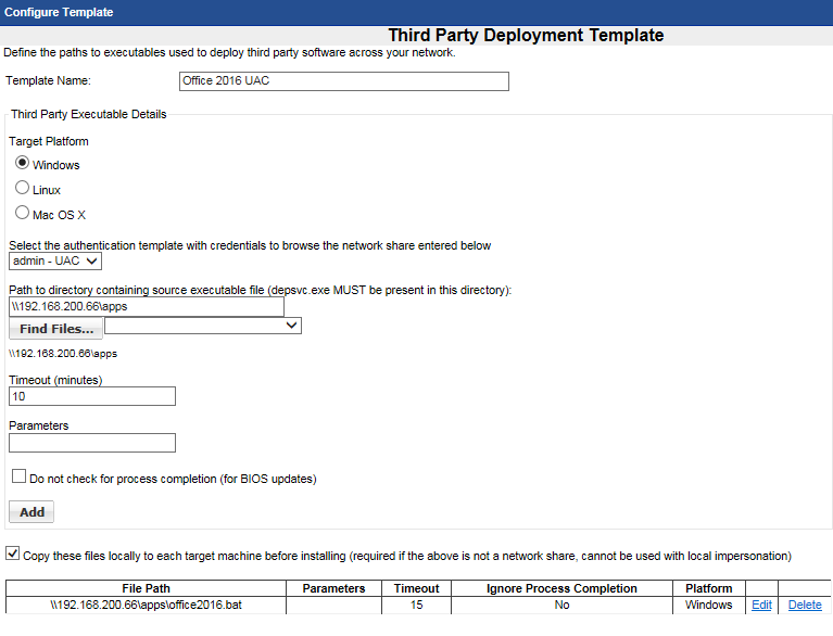 Third Party Application Deployment (UAC Enabled)