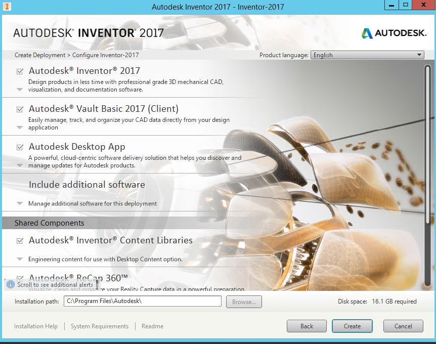 Deploying Autodesk Inventor 2017