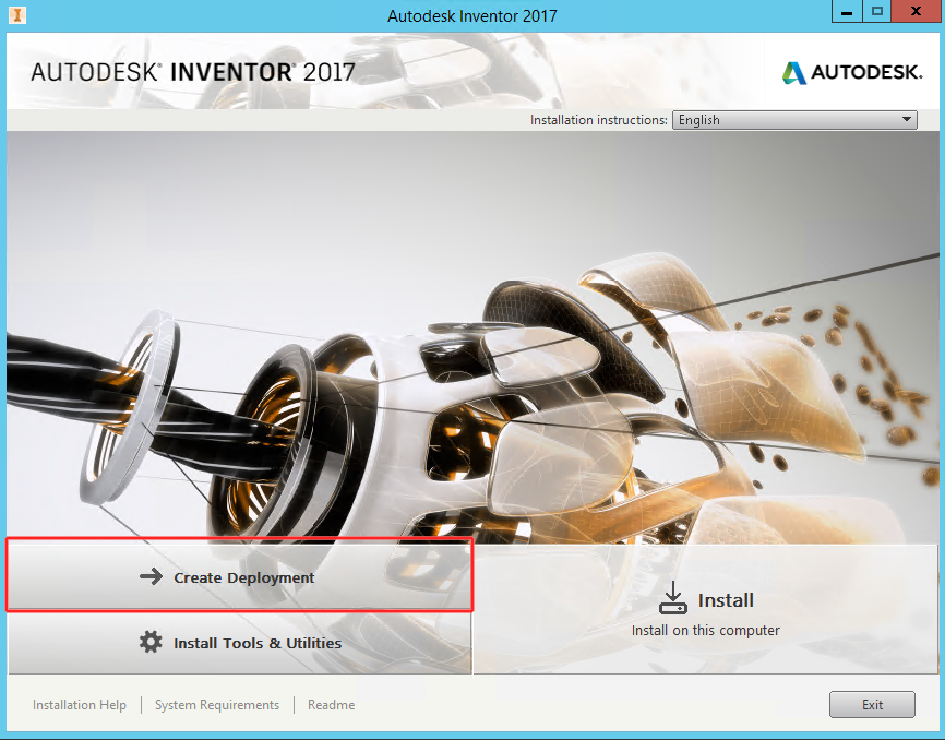 Deploying Autodesk Inventor 2017